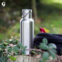 Gourde Isotherme Groovy Inox - gravure Gaspajoe - 750 ml