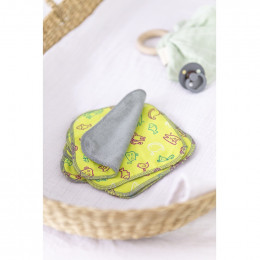 Lingettes lavables pour bébé - Tencel et coton Bio - 5 lingettes