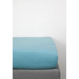 Drap Housse en Coton Bio pour lit bébé - 70x140 cm - Bleu