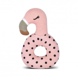 Hochet en Coton Bio - Flamingo - dès la naissance