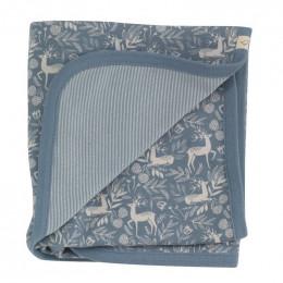 Couverture en coton BIO - Cerf bleu