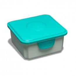 Boîte Fresh pour lingettes propres Couvercle Bleu canard