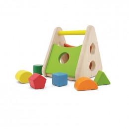 Boîte à formes triangle en bois - à partir de 18 mois