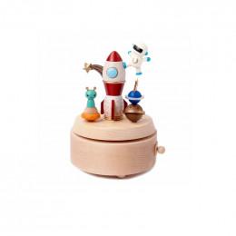 Manège musical en bois - Astronaute