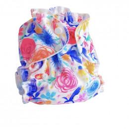 Couche lavable TE2 - Fleurs