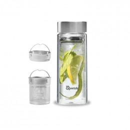 Théière nomade en verre double paroi - 430 ml