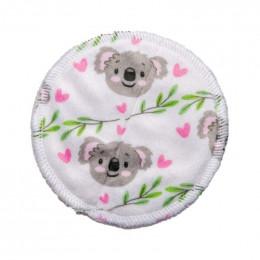 10 lingettes démaquillantes Minky + filet de lavage - Koala blanc