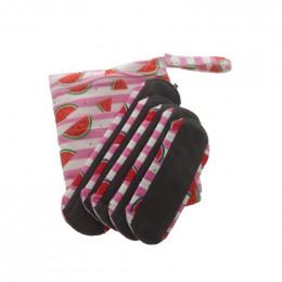 Kit de départ - serviettes hygiéniques lavables Minky -  Pastèques