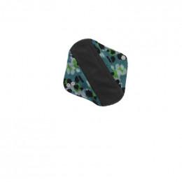Serviette hygiénique lavable Minky - absorbant gris - Léopard