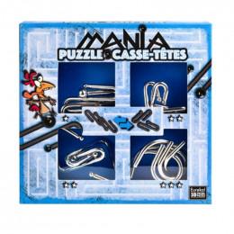 4 casse-têtes métal Mania - Bleu - à partir de 7 ans