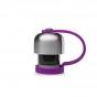 Bouchon avec attache silicone pour gourde Qwetch inox isotherme 260 et 500 ml - Mauve