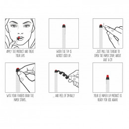 Rouge à lèvres hydratant mat - Le papier - 6 g - Ruby