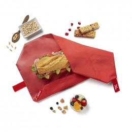Pochette sandwich lavable et réutilisable Boc'n'Roll - Square Red