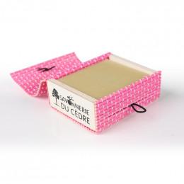 Boîte à savon en bambou - Rose