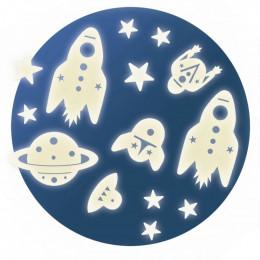 Décor phosphorescent - Mission espace