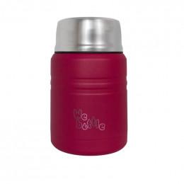Lunchbox Isotherme en Inox avec cuillère - Dark Pink - 500 ml