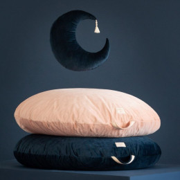 Pouf Sahara velvet - Night blue