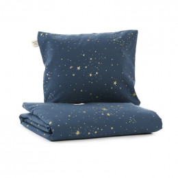 Parure de lit Himalaya lit simple - Gold stella & Night blue