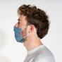 Masque buccal en coton bio - Uni Blue