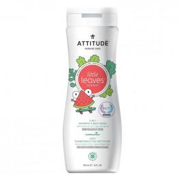 2 en 1 Shampooing et gel nettoyant - Little leaves -  coco et pastèque - 295 ml