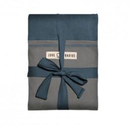 Echarpe porte-bébé - bleu paon et gris éléphant