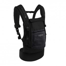PhysioCarrier coton noir / poche anthracite