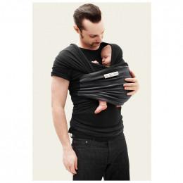 Echarpe porte-bébé :  anthracite / noir