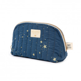 Trousse de toilette Holiday - Gold stella & Night blue - small