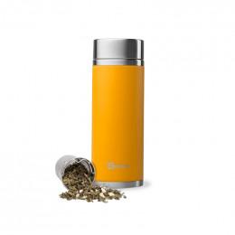 Théière nomade isotherme en inox 400 ml - Safran
