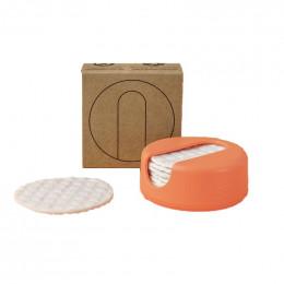 LastRound - 7 disques démaquillants réutilisables en étui - Peach