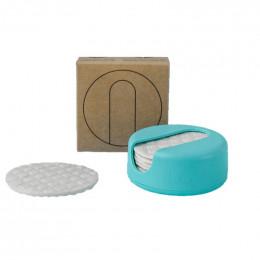 LastRound - 7 disques démaquillants réutilisables en étui - Turquoise