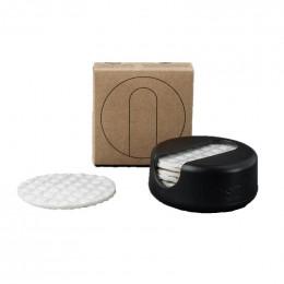 LastRound - 7 disques démaquillants réutilisables en étui - Noir
