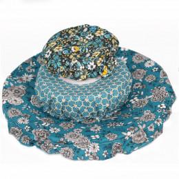 Trio de charlottes pour pots et plats alimentaires - Bleu - 10,20 et 30 cm