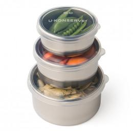 Trio de boîtes gigognes en inox - 150 / 280 / 500 ml