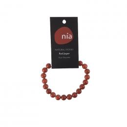 Bracelet perle Jaspe rouge