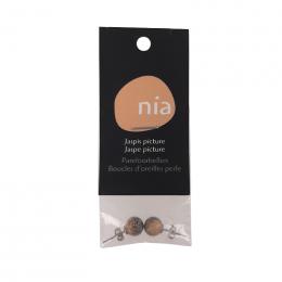 Boucles d'oreilles perle Image de jaspe