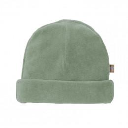 Bonnet bébé en velours - Forest green