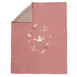 Couverture berceau en tricot - Birds