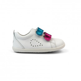 Chaussures Step Up - 731706 Grass Court Switch White (Raspbe + Peacock)