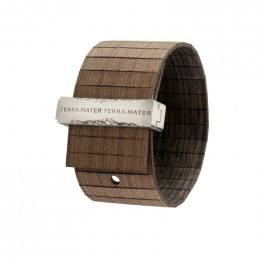 Bracelet en bois Talia Black Silver