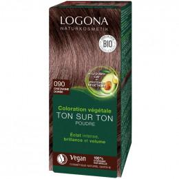 Coloration végétale Bio en poudre - 090 Châtaigne dorée - 100 g
