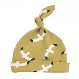 Bonnet en coton BIO - Mouettes Moutarde