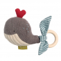 Hochet avec anneau en bois - Baleine