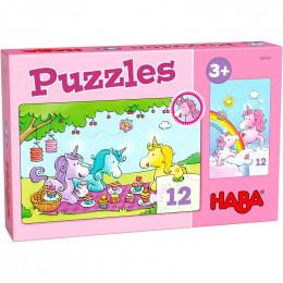 Puzzles - Licornes dans les nuages - Rosalie et ses amis