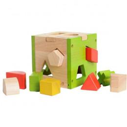 Cube d'éveil formes bois - à partir de 1 an