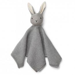 Doudou Milo en coton bio - Lapin grey melange