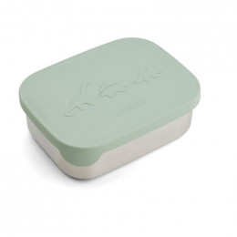 Boîte à tartines Arthur - Dino dusty mint