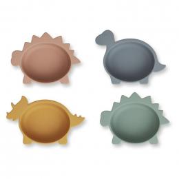 Set de 4 bols en silicone Iggy - Dino multi mix