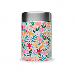 Boîte repas lunch box isotherme inox - 650ml - Flora rose