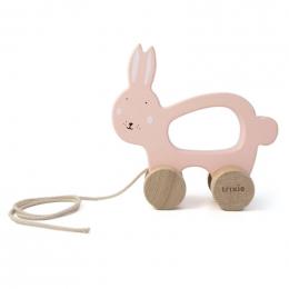 Jouet à tirer en bois - Mrs. rabbit